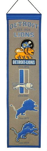 And Flags Flag Nfl Banners - NFL Detroit Lions Heritage Banner