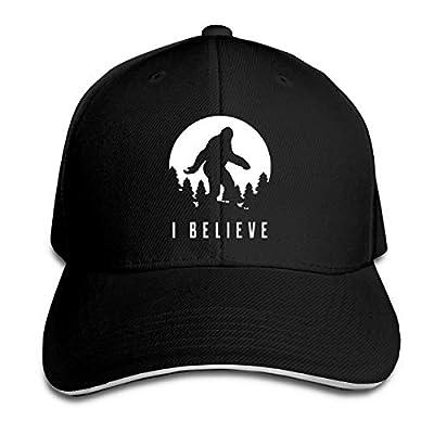 Bigfoot I Believe Sasquatch White Unisex Adjustable Sandwich Dad Golf Hat Baseball Cap