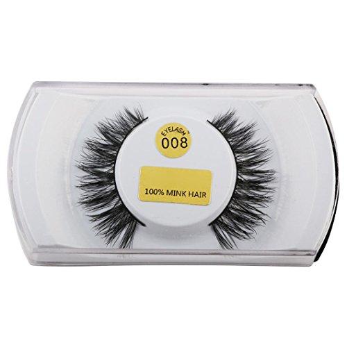 NewKelly 3D Lashes Mink Natural Thick False Fake Eyelashes Eye Lashes Makeup Extensions (Demi Mink)