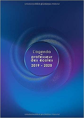 Amazon.com: Lagenda du professeur des écoles 2019 2020 ...