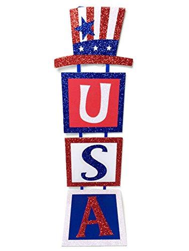 Patriotic Hanging Glitter Wall/Door Decoration -
