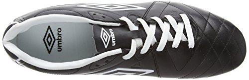 Umbro Umbro Speciali 4 Premier Botas de Fútbol, de Cuero, Unisex-Adulto negro - Negro y Blanco