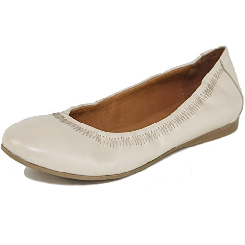 alpine swiss Womens Vera Ballet Flats European Made Leather Shoes Cream 8 M US
