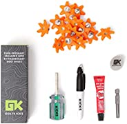 Golfkicks Golf Traction Kit for Sneakers with DIY Golf Spikes - Add Soft Spikes to Almost Any Shoe, 20 Count -