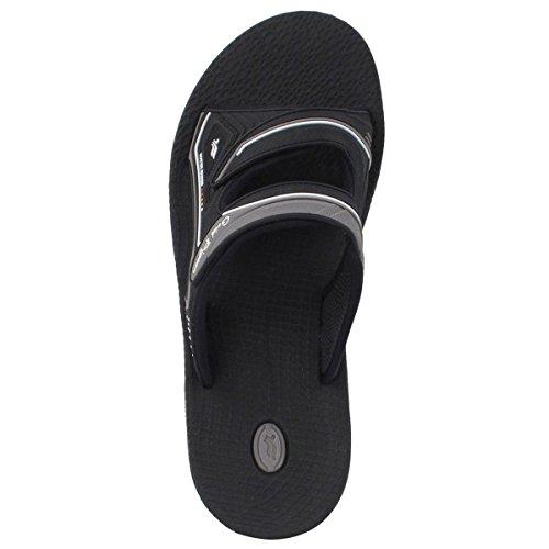 Zapatos De Paloma De Oro Gp7592 Comodidad Durable Hombres Ajustables Sandalias De Diapositivas Con Soporte Lite Arch, Transpirable Superior (tamaño: Hombres 7-11.5) 8547 Gris
