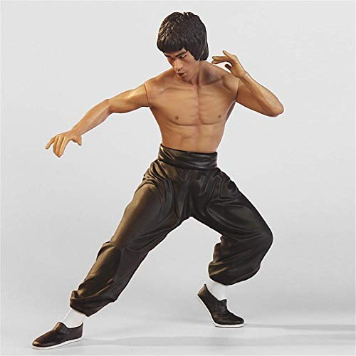 - LEOO Bruce Lee Model Toy Doll Chinese Martial Arts Classic Action Hand (Color : Black)