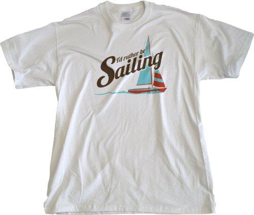 Ann Arbor T-Shirt Co. Men's I'D Rather Be Sailing T-Shirt