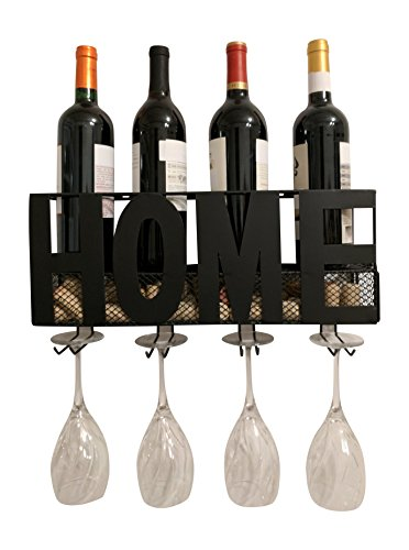 Gianna's Home Metal Wall Mounted Wine Rack and Cork Holder (Home) by Gianna's Home