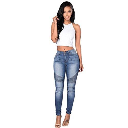 Vibrant Womens Juniors Classic High Waist Denim Skinny Jeans 15 Medium Denim (Best Womens High Waisted Jeans)