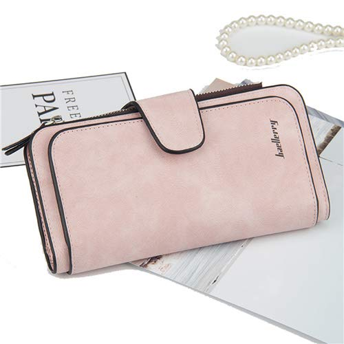 Storage Bags - Fashion Long Women Purse Vintage Dull Polish Leather Wallet Money Card Holder Bag Clutch Phone Carry - Tight Zipper Underbed Mattress Sealed Saver Comforters Plaid Vacuuum Hea ()
