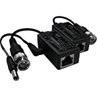 VIMVIP RJ-45 to BNC Converter Video Baluns with Power Connectors for Security CCTV Surveillance Camera