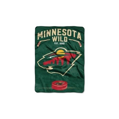 "The Northwest Company Officially Licensed NHL Minnesota Wild Inspired Plush Raschel Throw Blanket, 60"" x 80"""