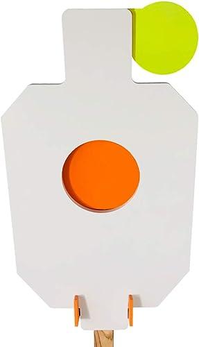 "Highwild AR500 Steel Hostage Target 12"" x 20"" x 3/8"" Armored Steel Bullseye Reactive IDPA Shooting Target with Mounting Bracket"