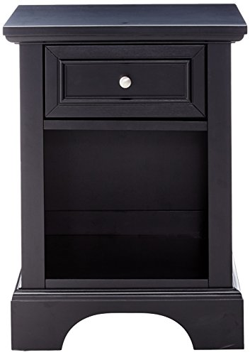 home, kitchen, furniture, bedroom furniture,  nightstands 12 image Home Styles Bedford Black Hardwood Nightstand with Storage promotion