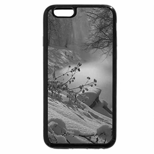 iPhone 6S Case, iPhone 6 Case (Black & White) - magical river in winter