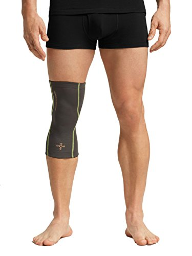 Tommie Copper Performance Knee 2.0 Sleeves, Medium, Slate Gray/TC Sulphur Stich
