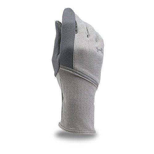 Gray Liner Glove (Under Armour Women's ColdGear Infrared Liner Gloves, True Gray Heather/Rhino Gray, X-Large)