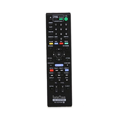 Loutoc RM-ADP069 Rays Remote for Sony Blu Ray New DVD Player Universal Remote