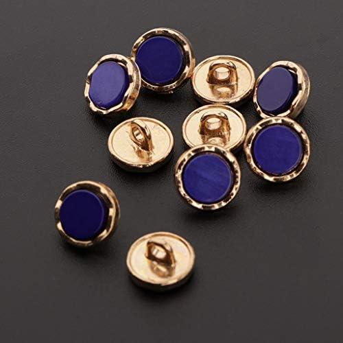 Hellery 手芸用 コートボタン 縫製ボタン 装飾ボタン 洋裁縫い 衣装の装飾 紺青 約10枚入り