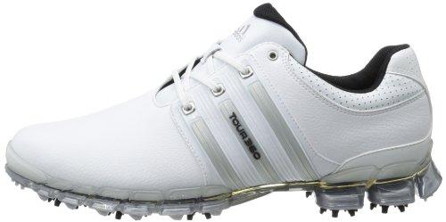 ed8f8497bff108 Adidas Men s Tour 360 ATV M1 Golf ShoeWhite Metallic Silver White ...