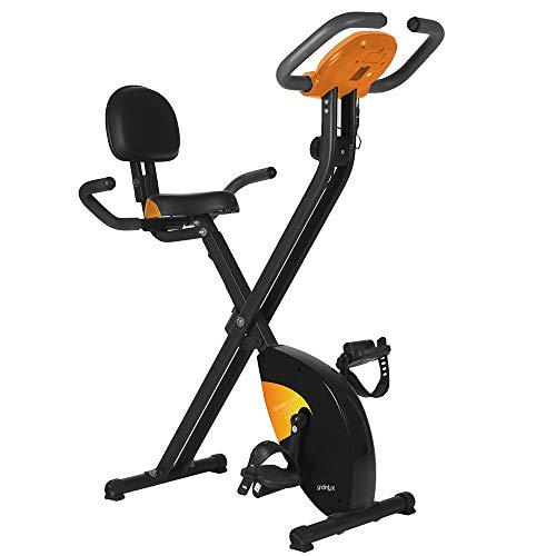 gridinlux. Trainer X-Bike 500. Bicicleta estática Magnética Plegable, Doble Agarre, Pulsómetro, Pantalla LCD, Resistencia 8 Niveles de Intensidad, Altura Regulable, Sillín Extra Confort a buen precio
