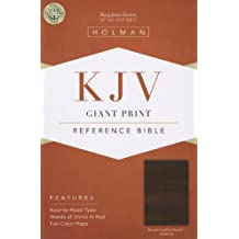 KJV Giant Print Reference Bible, Brown Leathertouch Indexed