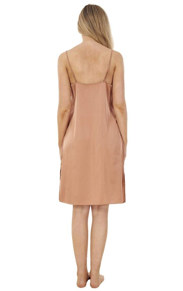 Ex Famous Store Ladies Plain Cling Resitant Underskirt Anti Static Petticoat Full Slip Black