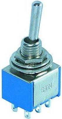 6-polig Miniatur-Kippschalter ein//aus  250V//3A
