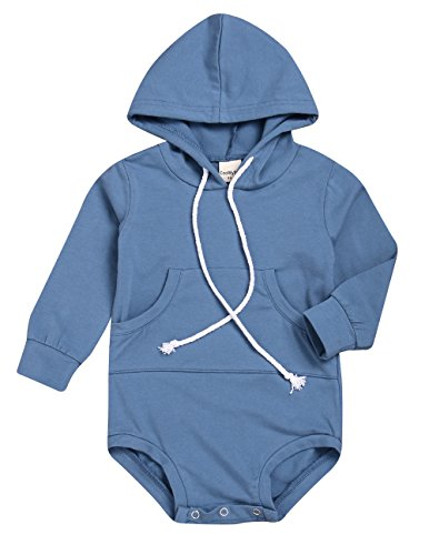 KONIGHT Newborn Baby Boys Clothes With Pockets Hooded Long Sleeves Romper Bodysuit Top Straps Outfits Newborn Baby Boys Sweatpants