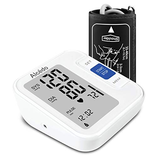 - Blood Pressure Monitor Upper Arm by Alcedo| Automatic Digital BP Monitor with Wide-Range Cuff for Home Use | Large Screen, 2x120 Reading Memory, Talking Function | FDA Approved