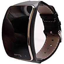 Genuine Leather/Metal Replacement Bracelet Wristband For Samsung Galaxy Gear S SM-R750 Smart Watch