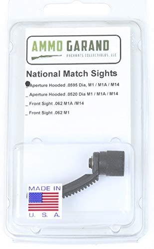 (AmmoGarand National Match Hooded Rear Sight Aperture NM 595 Dia Peep )