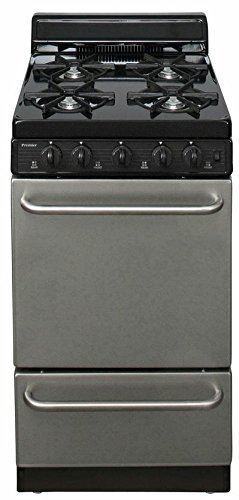 Burner Convection Open Gas Range (SAK600BP ADA Compliant Stainless Steel 20 Electronic Spark Gas Range with 2.4 Cu. Ft. Capacity Four Open Burners 4 Porcelain Backguard and 17 000 BTU Oven Burner For Natural or L.P. Gas)
