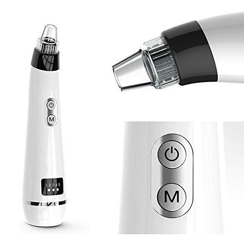Rziioo Aspirador de eliminación de espinillas, Kit de Extractor de acné de Piel Limpiador de poros faciales Recargable por...