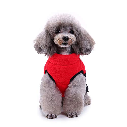 BingYELH Pet Coral Fleece Vest Dog Coat Jacket Clothes Soft Winter Warm Sweater Jumpsuit Outfit Apparel for Dogs -