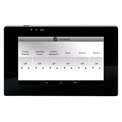 """SpeakerCraft STP7-B 7"""" Touch Panel Controller for MRA-664 Multi-Room Audio Control System Black"""