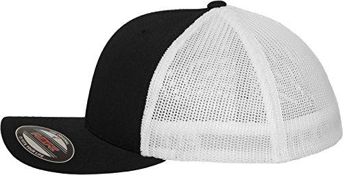 Multicolor Negro Blanco Hombre Gorra Flexfit para qwFtI