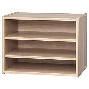 Amazon Marque – Movian Étagère / meuble de rangement empilable 3 étages en bois – Boîte de rangement empilable modulaire…