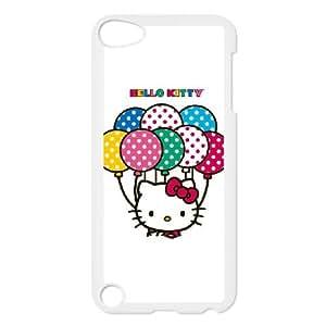 iPod Touch 5 Case White Hello Kitty With Balloons Riaqc