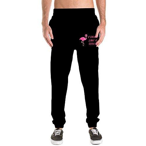 I Dont Give A Flock Flamingo Animal Lover Jogger Sweatpants Men's Dri-Power Closed-Bottom Pants With Pockets Workout Training Pants Yoga Running - Bottom Eyeglasses Apple
