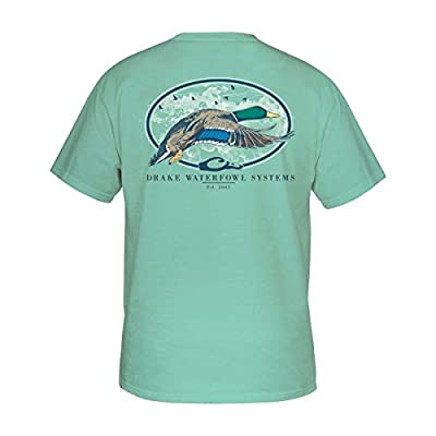 Drake Southern Collection Oval Flying Short Sleeve T-Shirt, Beach Glass, X-Large