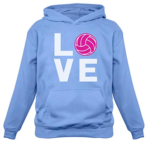 Love Volleyball Gift for Volleyball Lovers Players Women Hoodie Medium California Blue