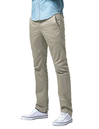 Match Men's Straight Leg Casual Pants (30, 8091 Light Khaki)