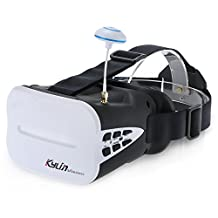 Tomlov KDS Kylin Vision 48CH 5.8G Full Band FPV 3D Goggles Glasses 5 Inch VR Headset with 2000mAh Battery for FPV RC Racing Drone Quadcopter
