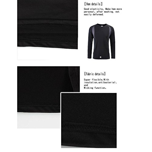 Wildconqueror Women's Elastic Thermal Underwear Long Johns Top & Bottom Set Black Size M