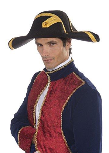 Naval Captain Costume (Naval Commander Hat Admiral Hat Ships Captain 1800S Sea Captain)