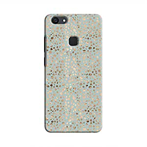 Cover It Up - Brown Cyan Pebbles Mosaic V7 Plus Hard Case