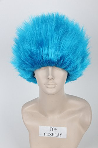 [Topcosplay Short Cosplay Wig Halloween Wigs Blue for Kids Children] (Thing 1 Thing 2 Halloween Costumes)