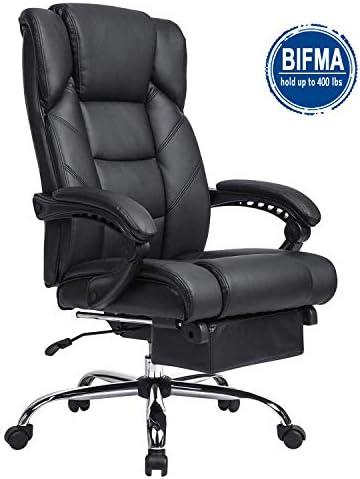 KADIRYA Reclining Leather Office Chair