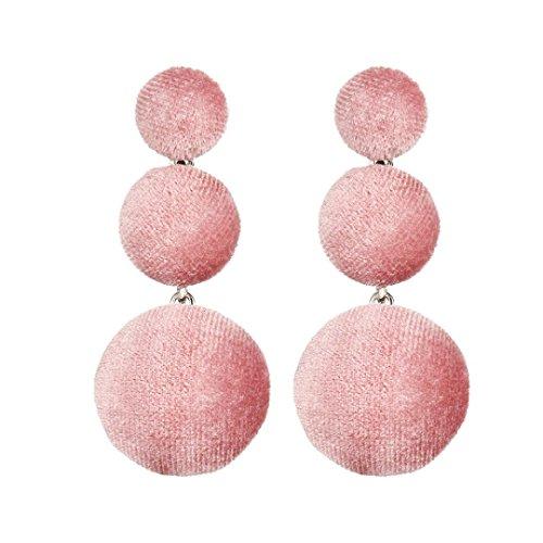 Earrings, Paymenow Clearance Women Girls Stud Earrings Handmade Cloth Round Eardrop Long Cute Drop Earrings Jewelry (E) Bangles Trendy Jewelry